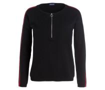 Pullover - schwarz/ weiss/ rot