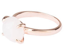 Ring - roségold/ weisser chalcedon
