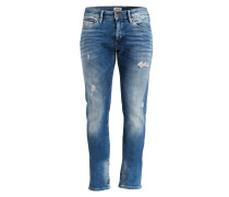 Destroyed-Jeans SCANTON Slim-Fit - blau