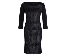 Kleid mit mit Glitzerfäden - schwarz
