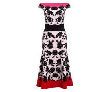 Kleid - schwarz/ rosa/ rot