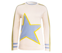 Pullover HAZEL - ecru/ hellblau/ gelb