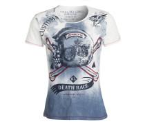 T-Shirt - wollweiss/ blau