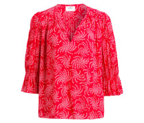 Bluse CHIK - rot/ weiss
