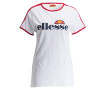 T-Shirt CHRISTINA - weiss/ rot