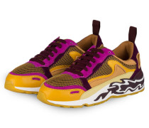 Sneaker - weinrot/ orange/ fuchsia
