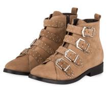 Boots GIA mit Nietenbesatz - taupe