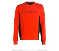 Sweatshirt - orange/ schwarz