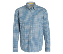Hemd DAN Regular Fit - blau/ grau kariert