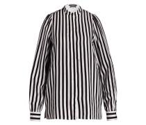 Bluse mit Seidenanteil - schwarz/ weiss
