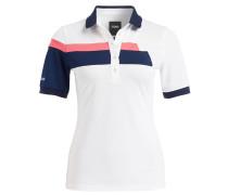Poloshirt - weiss/ blau/ rosa gestreift