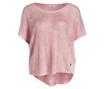 Strickshirt aus Leinen - rosa