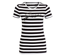 T-Shirt - schwarz/ weiss gestreift