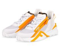 Sneaker FLOW - WEISS/ NEONORANGE
