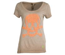 T-Shirt HEAD mit Paillettenbesatz - sand