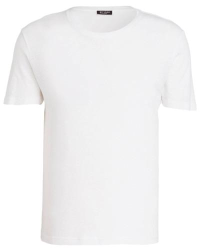 T-Shirt LEGACY mit Leinenanteil - weiss