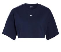 Cropped-Shirt mit Galonstreifen