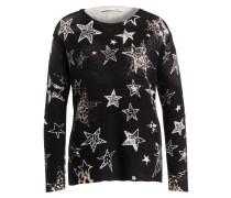 Pullover - schwarz/ beige/ hellbraun
