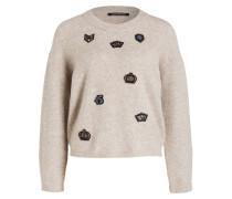 Pullover mit Alpakaanteil - beige