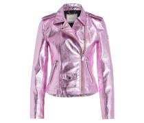 Bikerjacke - rosa metallic