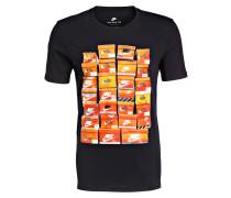 T-Shirt VINTAGE SHOEBOX - schwarz
