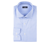 Hemd RIVARA Slim-Fit - weiss/ blau kariert