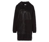 Hoodie-Kleid mit Schmucksteinbesatz