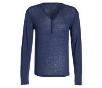 Henley-Shirt WARRIS aus Leinen - blau