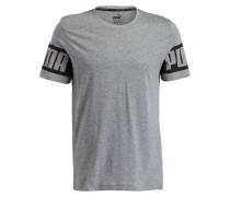 T-Shirt REBEL - grau meliert/ schwarz