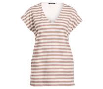 T-Shirt - weiss/ braun