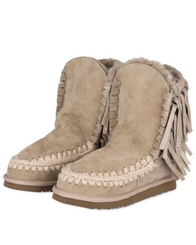 Brandneue Unisex Online Steckdose Neu Mou Damen Fell-Boots ESKIMO FRINGES - GREIGE cJZPUfS