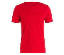T-Shirt - rot meliert