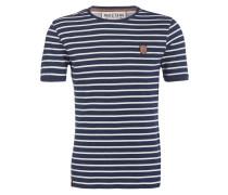T-Shirt - blau/ offwhite gestreift