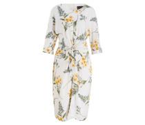 Kleid SANDRINE - creme/ grün/ ocker