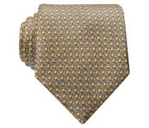 Krawatte - gelb/ grau