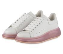 Plateau-Sneaker - WEISS/ HELLROSA