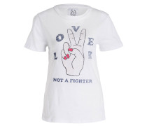 T-Shirt LOVER NOT A FIGHTER - weiss