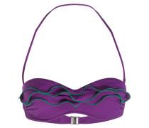 Bandeau-Bikini-Top - violet/ grün
