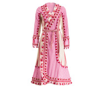 Wickelkleid MIRANDA - rot/ pink/ beige