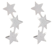 Ohrstecker THREE STAR STUD - grau