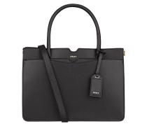 Saffiano-Handtasche - schwarz