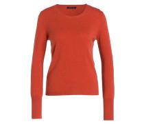 Cashmere-Pullover - orangerot