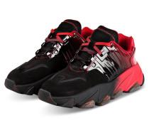 Plateau-Sneaker - ROT/ SCHWARZ