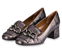 College-Pumps - silber metallic