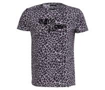 T-Shirt - flieder/ schwarz/ burgunder