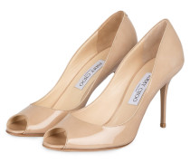 Peeptoe-Pumps EVELYN - beige