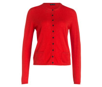 Cashmere-Cardigan LUISE - rot