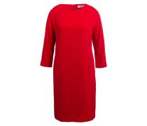 Kleid mit 3/4-Arm - rot