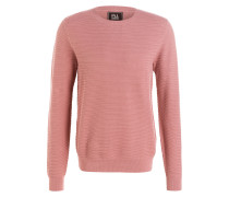 Pullover in Strukturstrick - rosé