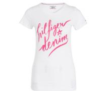 T-Shirt - weiss/ pink